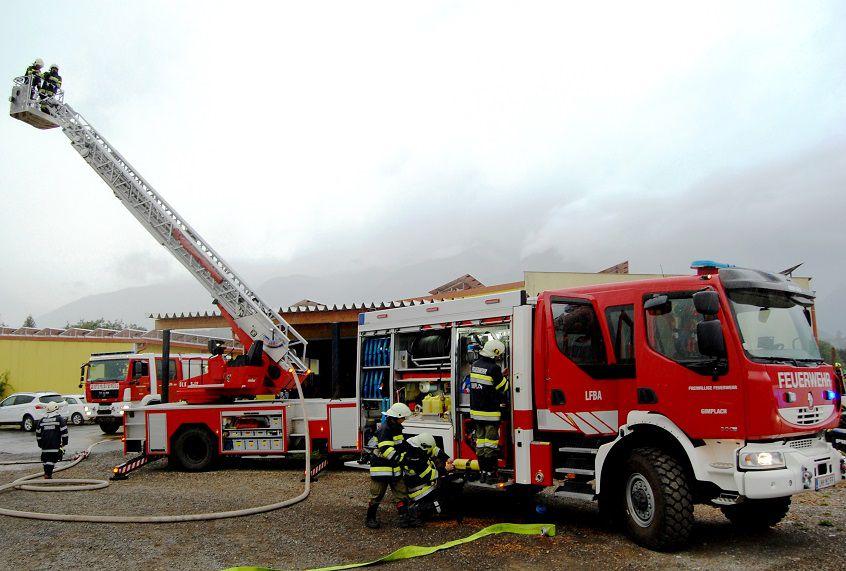 """Alarmübung: """"Brand einer Hackschnitzelheizanlage in Trofaiach-Gimplach"""""""