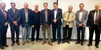 SWV-Bezirksobmann Willibald Mautner (l.) mit dem neu gewählten Vorstand. (Foto SVW Leoben)