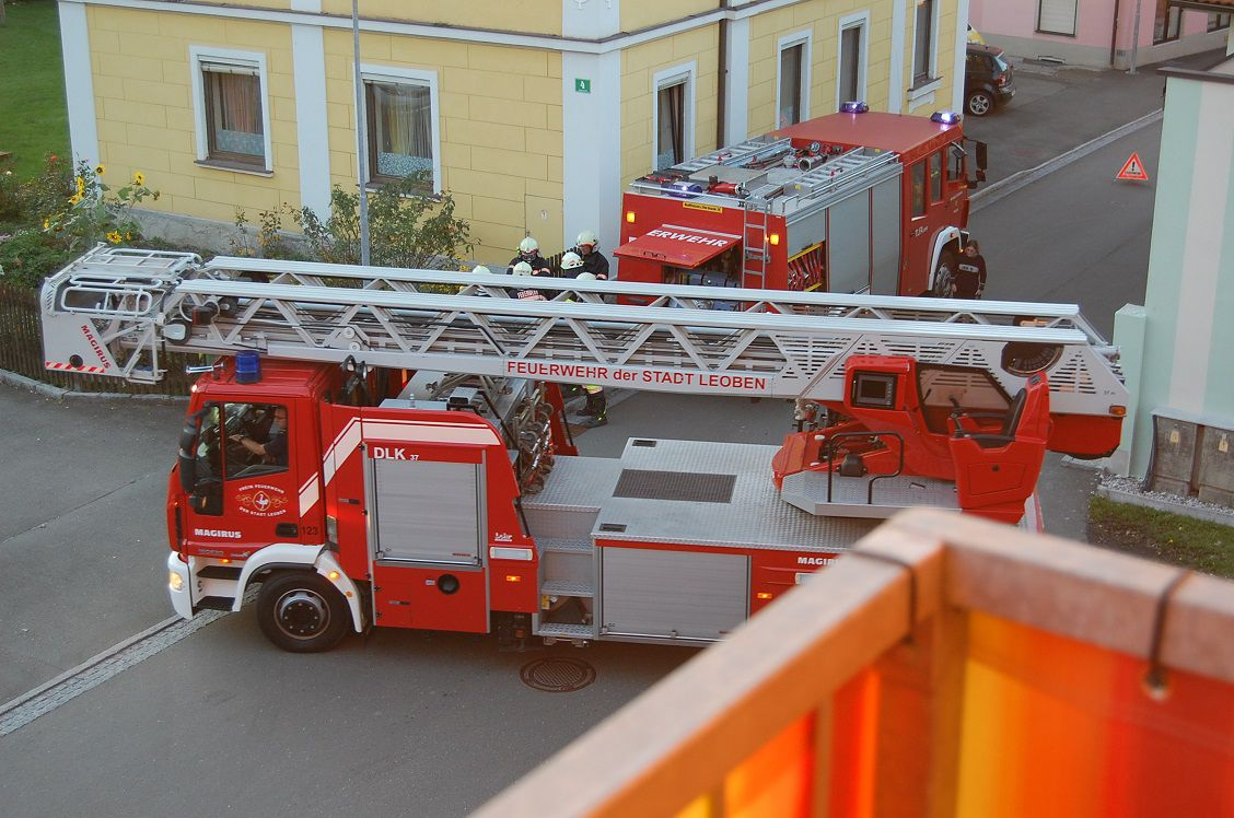 Alarmübung der FF Niklasdorf im Seniorenzentrum