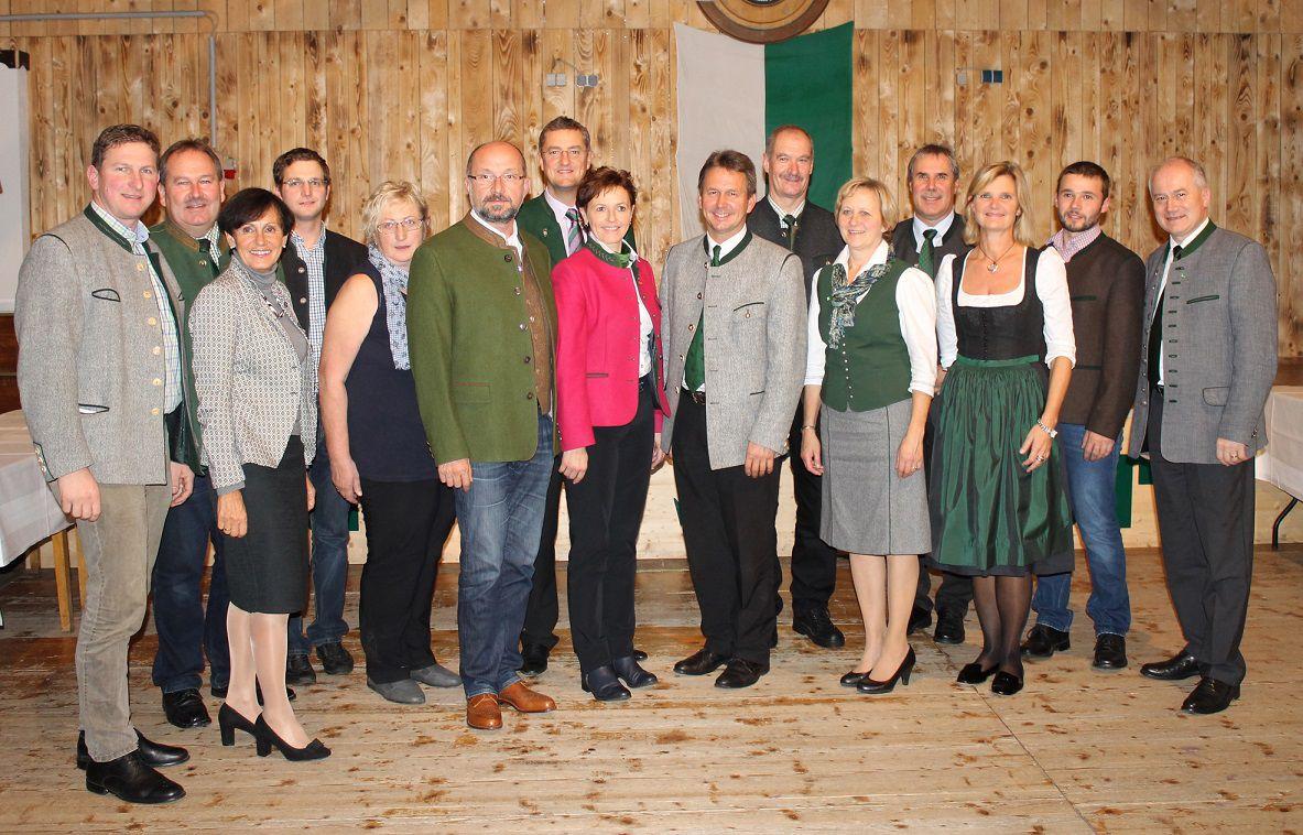 Spitzenfunktionäre des Bauernbundes aus den Bezirken Leoben und Bruck-Mürzzuschlag.
