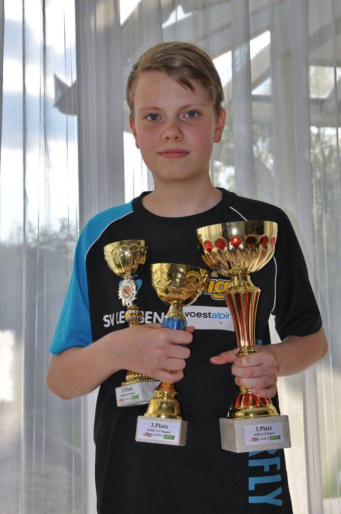Tischtennis: 3x Bronze für Sascha Steiner