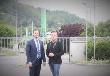 Vertreter der ÖVP Leoben vor der Biogasanlage v.l.n.R.: StadtR Reinhard Lerchbammer; KO GR Dominik Dobaj