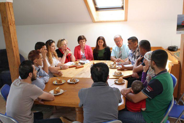 Soziallandesrätin Mag.a Doris Kampus besuchte Asylunterkunft in Kammern