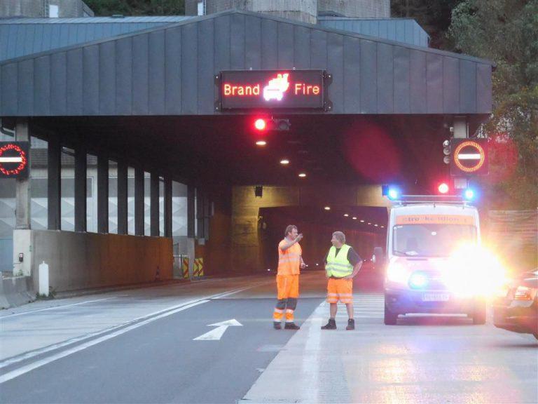 Verkehrsunfall mit mehreren Beteiligten im  Gleinalmtunnel