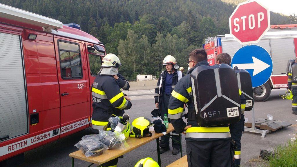 Fahrzeugbrand Gleinalmtunnel
