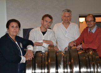 Im Bild v.l.: Susanne Leitner-Böchzelt (MuseumsCenter Leoben), Carsten Debes (Landkreis Zwickau), Erwin De Bryn (Stebo Belgien), Gerfried Tiffner (Steirische Eisenstraße)