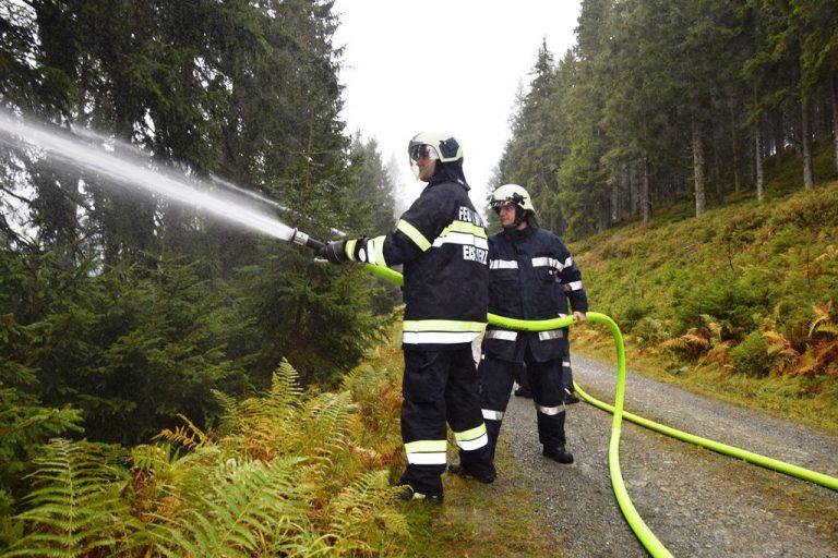 Übung: Waldbrand beim Geierkogel in Hinterradmer