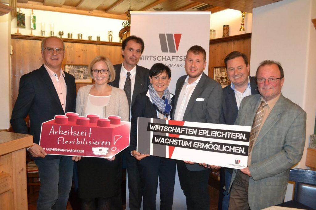 (v.l.n.r.:) Franz Loschat, Astrid Baumann, Alexander Sumnitsch, Elfriede Säumel, Marco Großschädl, Kurt Egger, Gottfried Zagorz