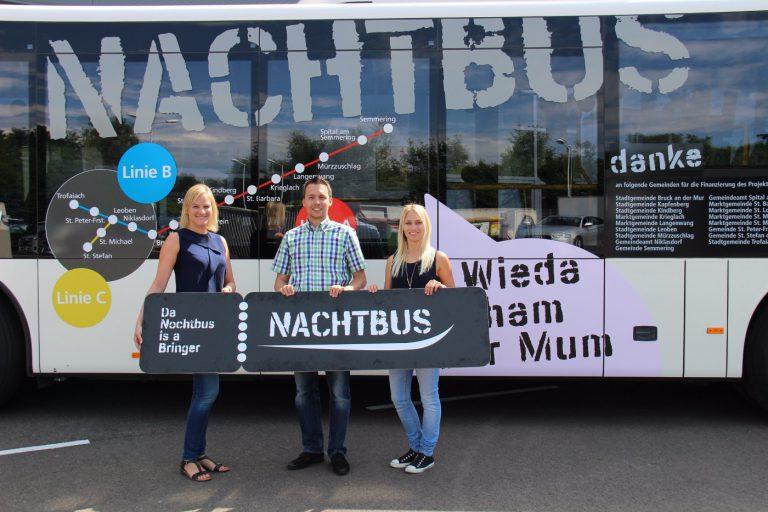 Nachtbus: Werbung auf vier Rädern