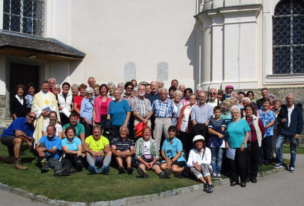"""Die Wallfahrtskirche """"Schmerzhafte Mutter am Weizberg"""" war heuer Ziel der Fuß- und Buswallfahrer aus dem Vordernbergertal."""