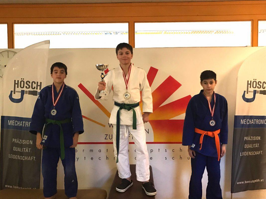 Luca Kutschi, Mitte (Foto: Judo & Freizeit Leoben)