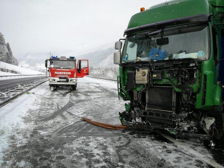 LKW-Unfall auf der A9 zwischen Mautern und Kalwang