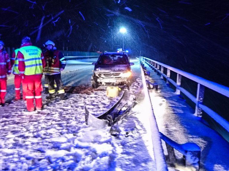 Unfall auf der A9 zwischen Mautern und Kalwang