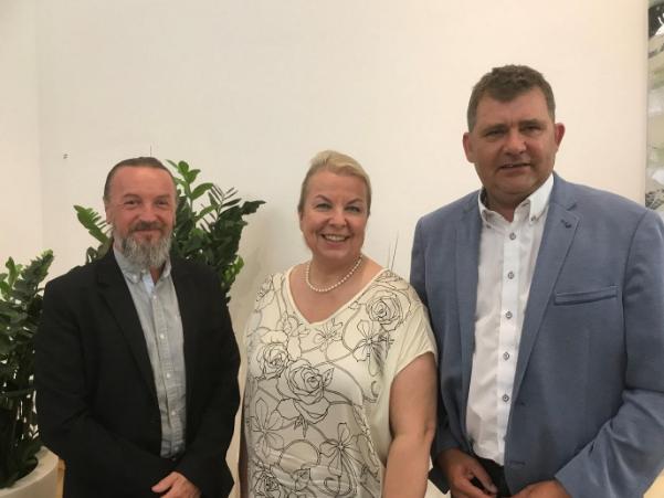 Bürgermeister Angerer bei Ministerin Hartinger-Klein