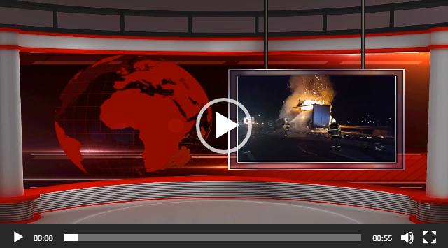 Video vom LKW Brand auf der A9