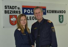 Obst. Karl Holzer, BA und AbtInsp Claudia Neißl (LPD Stmk)