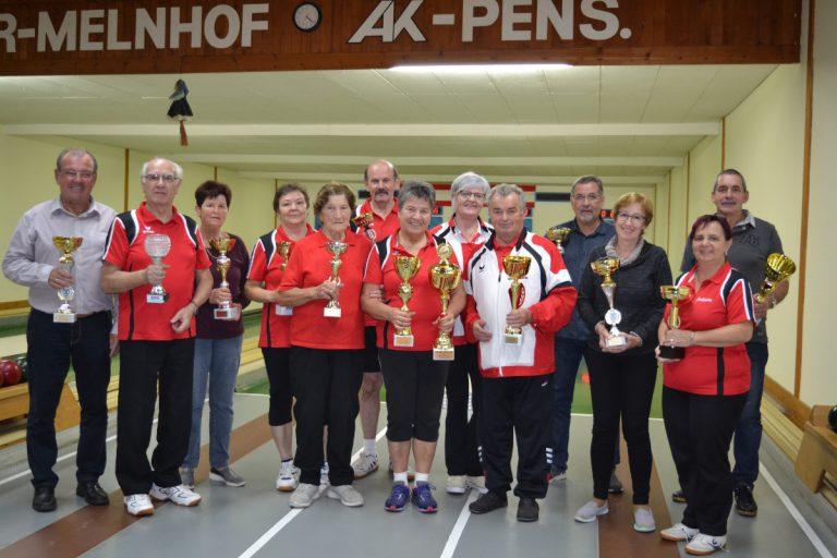 Vereinskegelmeisterschaft 2018  des Pensionistenverbandes Kammern