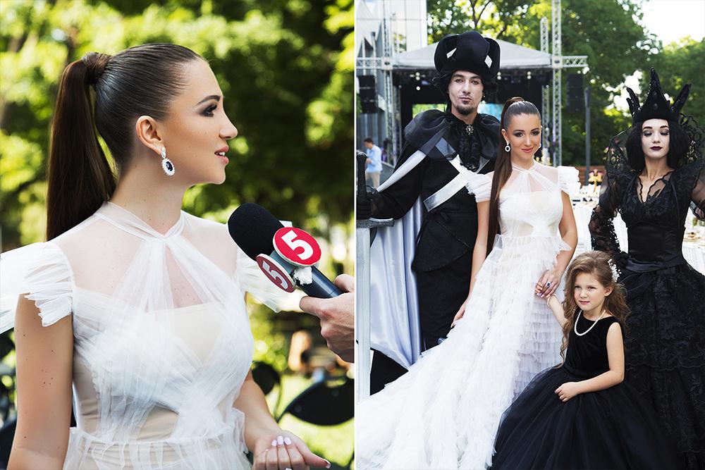 """Elvira Gavrilova beim Galadinner ihres Projekts """"Stolz und Schönheit der Ukraine"""" (Odessa, 2019)"""